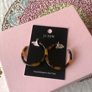 NWT JCrew turle shell hoop earrings